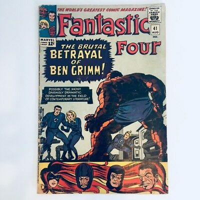 FANTASTIC FOUR #41 Marvel Comics 1965 Frightful Four Stan Lee Jack Kirby GD/VG!!