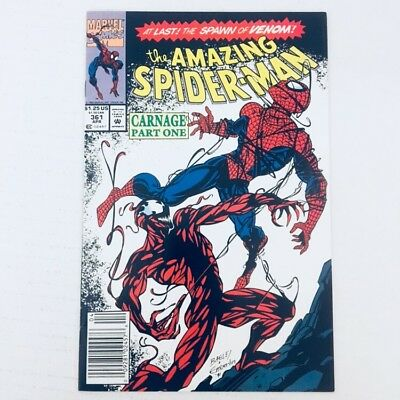 AMAZING SPIDER-MAN #361 1st Appearance of Carnage Newsstand Variant 1992 VF/NM!!
