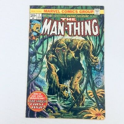 MAN-THING #1 1st Appearance of Foolkiller Marvel Comics 1974 Dracula VG/FN!!!