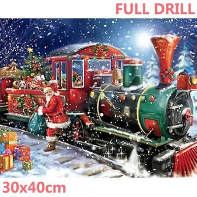Full Drill Christmas Train 5D Diamond Painting Xmas Gifts Charm  DIY Kit Latest