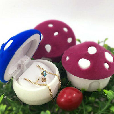 Small Mushroom House Ring Necklace Jewelry Box Creative Jewelry Packaging
