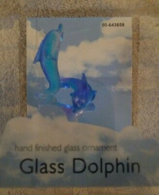 Glass Dolphin 2 1/2 Ornament