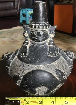 Ceramic Vessel Decorative Handcraft Art Peru