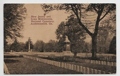 Andersonville,Georgia-National Cemetery-New Jersey-Iowa Monuments-Civil War jh87