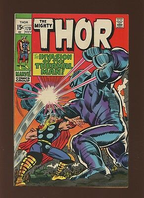 Thor 170 FN 6.0 * 1 Book Lot * Marvel! 1969-71! Mystery! Space! Thermal Man!