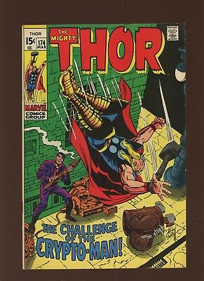 Thor 174 FN+ 6.5 * 1 Book Lot * Marvel! 1969-71! Mystery! Space! Crypto-Man!