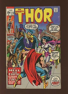Thor 179 FN+ 6.5 * 1 Book Lot * Marvel! 1969-71! Mystery! Space! Hell on Earth!