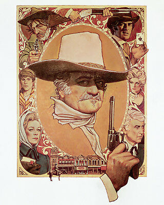 The Shootist John Wayne Superb Photo Of The Classic Poster Art By Amsel