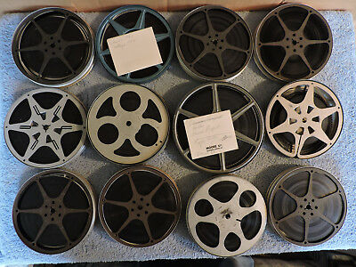 12 Vintage Home Movies Film on Art Deco 8mm Aluminum & Metal Reels/Cans Buffalo
