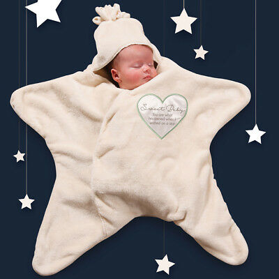 NEW Sweet Baby Snuggle Star Swaddle Blanket - Wrap A Newborn In Comfort & Warmth