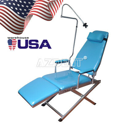 USA Portable Dental Simple Folding-Type Chair with Rechargeable LED Light
