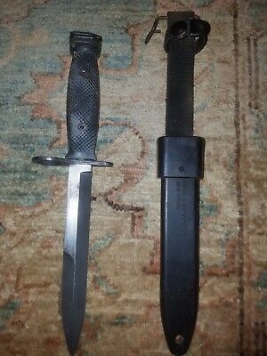 USGI Military Vietnam M7 Bayonet BOC Combat Knife with M10 Scabbard Sheath