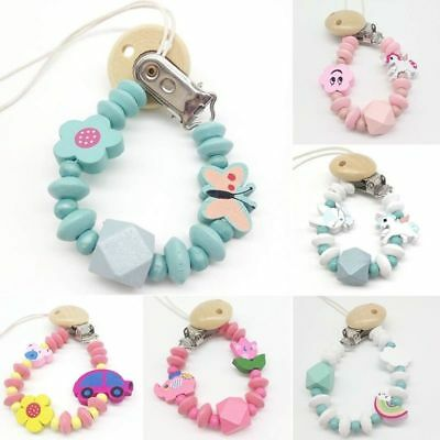 Cute Baby Dummy Clip Holder Pacifier Clips Soother Chains Casual Style Bead UK