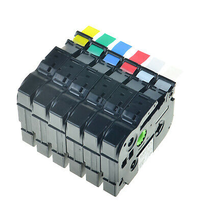 Compatible with Brother TZ TZe Label Tape Printer P-Touch 9/12/18/24/36mm