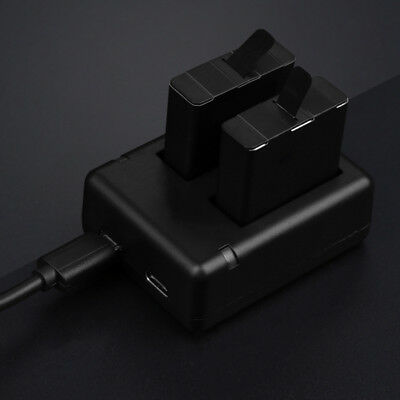 Original Dual Battery Charger+USB Charger Charging Cable For GoPro HERO5/6 bc2