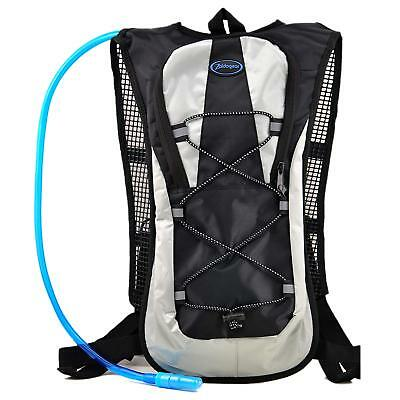 Zaidogear 2L Water Bladder Hydration Pack Backpack BPA Free Hiking Cycling Black