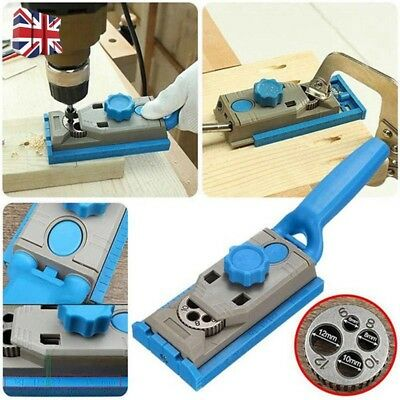 Wood Pocket Hole Round Doweling Drill Jig Joinery Woodworking Tool Tenon Locator