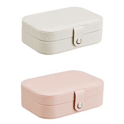 Travel Portable Leather Buckle Jewelry Display Holder Storage Case Organizer Box