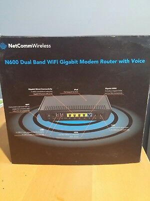 NetComm N600 Dual Band WiFi Gigabit Modem Router with Voice ADSL NBN 3G/4G