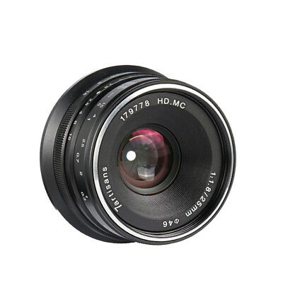 7artisans 25mm F1.8 Manual Focus Lens BLACK for Canon EOS M APS-C Cameras