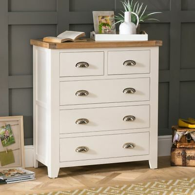 Cheshire Cream Painted 2 over 3 Drawer Chest-WW09