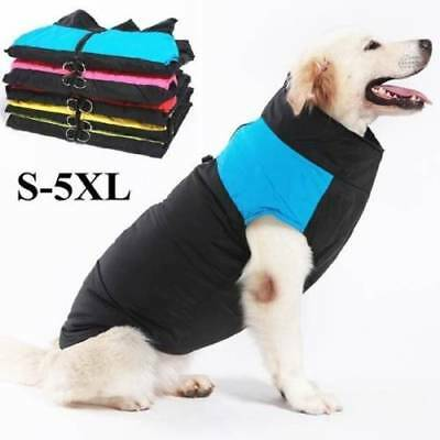 Winter Pet Dog Clothes Autumn Warm Waterproof Padded Coat Vest Jacket S-5XL