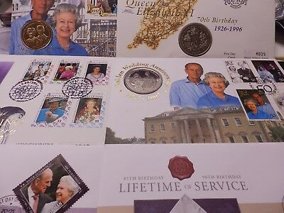 Isle of Man IOM Crown Royal Commemorative Coins EIIR Queen Mother BUNC on cover