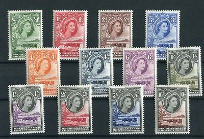 Bechuanaland QEII 1955-58 definitive set of 12 SG143/53 unmounted mint