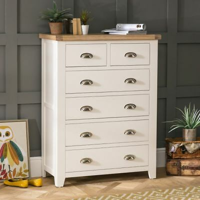 Cheshire Cream Painted 2 over 4 Drawer Chest-WW10