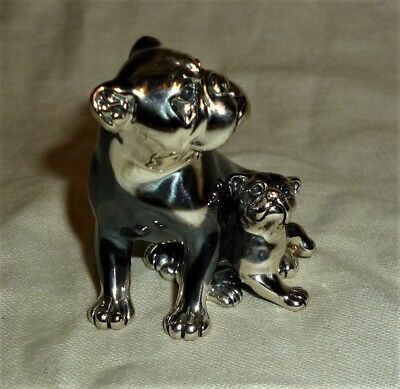 Saturno Silver Pug/Boxer Dog with Puppy