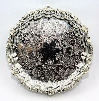 "Antique Sterling Silver Salver, 6¼"", CHESTER 1909, Barker Bros, 151.35g, Perfect"
