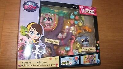 littlest pet shop LPS treetop with sideburn walker #3833 and wiskers ryan #3832