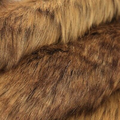 Luxury Long Haired Pile Faux Fur Fabric Flutty Upholstery Craft Furry Cloth Chic