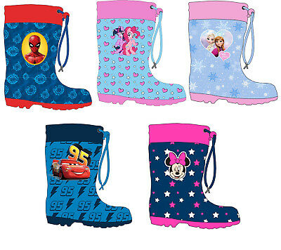 Boys And Girls Character Wellies Wellington Boots With Tie Top