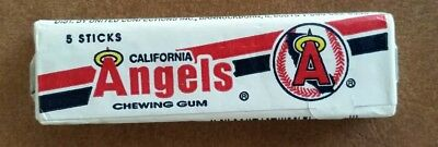California Angels 1990's Vintage MLB Baseball Chewing Gum unopened 5 stick pack