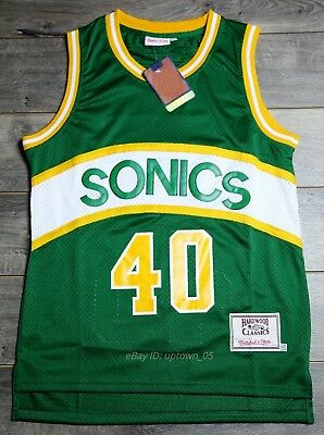 Shawn Kemp #40 Seattle SuperSonics 1989-90 Rookie Throwback Jersey