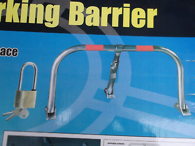 3 Legged Security Folding Parking Barrier Post With Padlock & 3 Keys