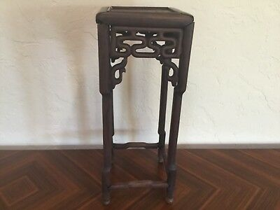 """Antique 18thc Qing chinese hardwood table stand 22x8.5"""" unassembled QUALITY"""
