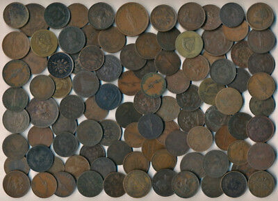 99 Canada Old Tokens & Large Cents (Worth Your Time To View) >>> No Reserve