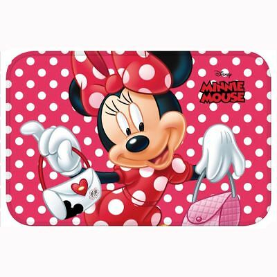 MINNIE MOUSE FLOOR MAT KIDS GIRLS BEDROOM POLKA DOT RED WHITE 40cm x 60cm