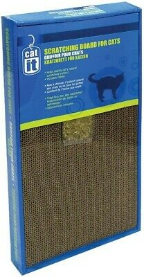 Catit Scratching Boards with Catnip for Cat / Kitten Cardboard Small / Large
