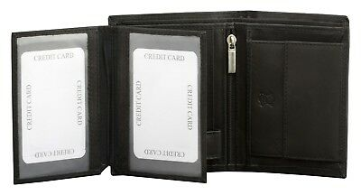 RFID BLOCKING Credit Card Leather Mens Wallet Zipped Zip Notes & Coin Purse RFS