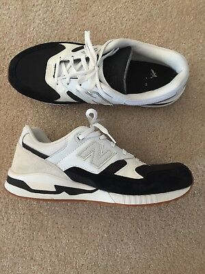 sneakers for cheap 4c045 979a2 NEW BALANCE 530 Encap Size 12.5 Summer White Black Suede Men's Shoes  Sneakers