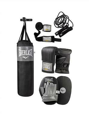 Everlast Boxing Hanging Punch Bag Set with Gloves, Jab Pads and Wall Bracket