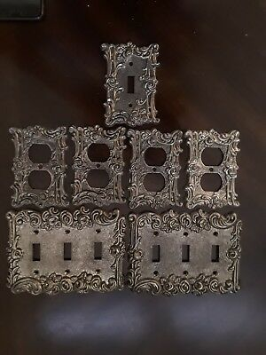 1967 Vintage rose brass Outlet and switch plate covers AMER TACK & HARDWARE