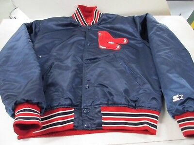 VTG MLB Boston Red Sox Satin Jacket Tagged Diamond Collection by Starter L