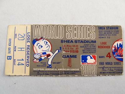 1969 World Series New York Mets Game 4  Shea Stadium  Loge Reserved Ticket Stub