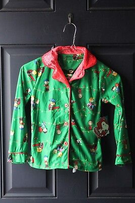 Girls Darling Peanuts Christmas 2 Piece Pajama Set Size 6/ 6X