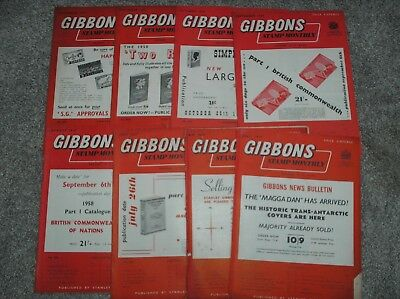 Gibbons Stamp Monthly x 8 Issues Dated April - December 1957*