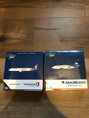 Gemini Jets 1:400 Mixed Lot ( Hawaiian A321neo, Aeromexico 737-700)